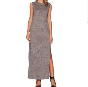 T by Alexander Wang Linen Side Split Maxi Dress